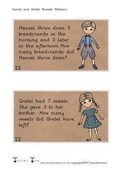 Hansel and Gretel Number Problem Cards