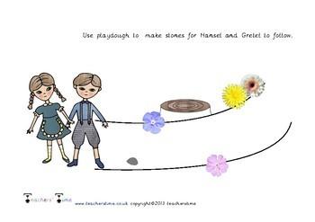 Hansel and Gretel Playdough Mats