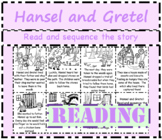 Hansel and Gretel: Read and sequence the story cut and paste activity