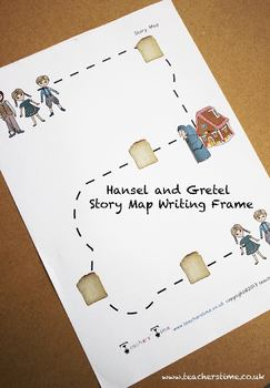 Hansel and Gretel Story Map Writing Frame