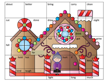 Hansel and Gretel Third Grade Dolch Sight Word Puzzle