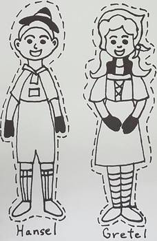 FREEBIE! K-4th grade Hansel and Gretel puppets {set #1, Hansel and Gretel}
