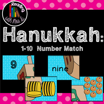 Hanukkah 1-10 Number Match