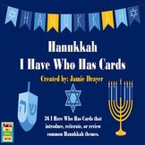 The History and Symbols of Hanukkah I Have Who Has Activity