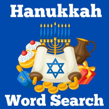 Hanukkah Activity | Hanukkah Word Search | Chanukah Activity