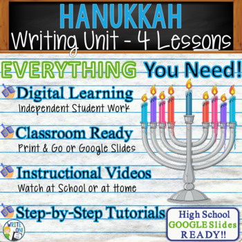 Hanukkah Writing BUNDLE! - Argumentative, Persuasive, Expo