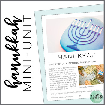 Hanukkah Mini-Unit | Hanukkah Close Reading and Writing Activities
