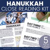 Hanukkah Mini-Unit | Hanukkah Close Reading and Writing Ac