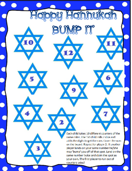 Hanukkah Activities and BUMP IT Games
