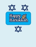 Hanukkah Activities first grade - Addition, Boggle, Short Vowels, writing