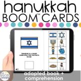 Hanukkah Adapted Book + Comprehension Boom™ Cards for Spec
