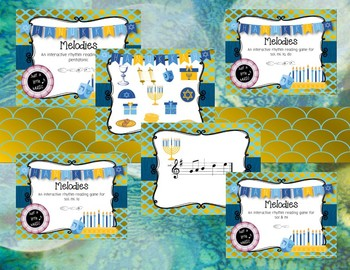 Hanukkah BUNDLE ~ 17 activities & games for rhythm and melody