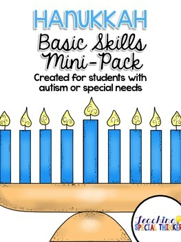 Hanukkah Basic Skills Mini-Pack for students with Autism o
