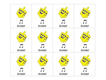 Music Hanukkah Beat Strips and Composition Cards for Rhythmic Practice