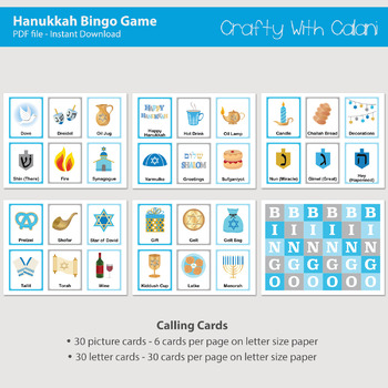 picture regarding Printable Hanukkah Card called Hanukkah Bingo Memory Video game, Printable Hanukkah Match