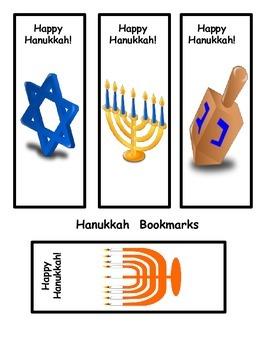 Hanukkah Bookmarks