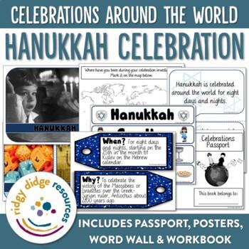 Hanukkah Bulletin Board Posters, Word Wall, Student Booklet