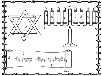 Hanukkah (Chanukah) Roll and Color Addition and Sight Word FREEBIE