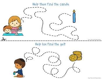 Hanukkah Chanukah Tracing - Prewriting & Writing Center Activities
