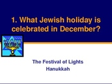 Hanukkah Chanukkah Powerpoint Quiz for ESL ENL