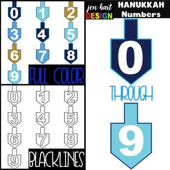 Hanukkah Clip Art BUNDLE- Letters, Numbers, Shapes
