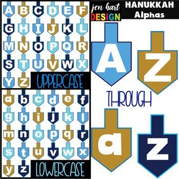 Hanukkah Clip Art - Letters