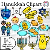 Hanukkah Clipart {Accents: Menorah, Dreidel, Latkes, Chall