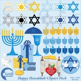 Hanukkah Clipart in Blue, AMB-1535