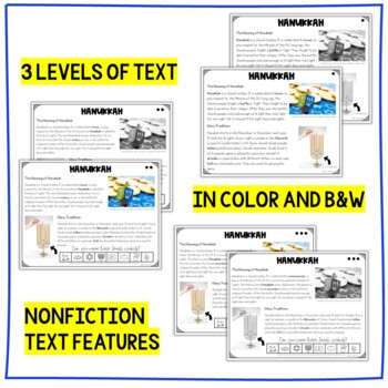 Hanukkah Differentiated Close Reading Activities: 3 Levels of Reading Passages