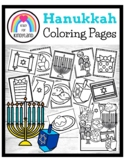 Hanukkah Coloring Pages Booklet: Menorah, Dreidel, Latkes,