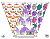 Hanukkah Coloring Pages, Hanging Banner, Chanukah Decorati