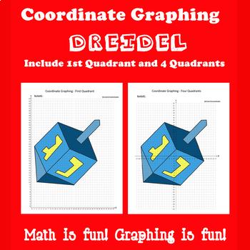 Hanukkah Coordinate Graphing Picture: Dreidel
