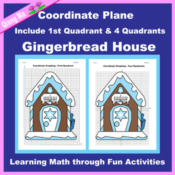 Hanukkah Coordinate Graphing Picture: Gingerbread House