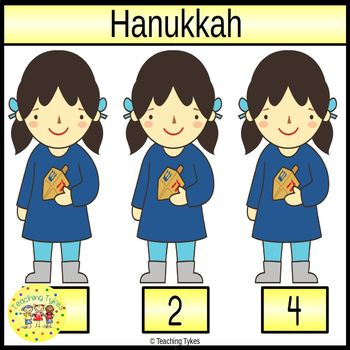Hanukkah Count and Clip Holiday Task Cards