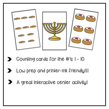 Hanukkah Count the Room for Numbers 1 - 10