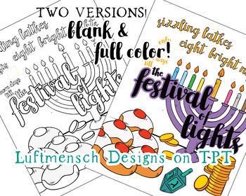 Hanukkah Countdown, Chanukah Coloring Page Countdown, Jewish Holiday Fun