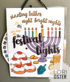 Hanukkah Countdown, Chanukah Coloring Page Countdown, Jewi