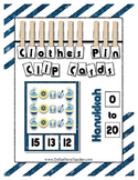 Hanukkah Counting Clip Cards Math Center ~ They Sparkle ~