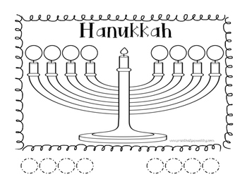 Hanukkah Cut and Paste FREEBIE