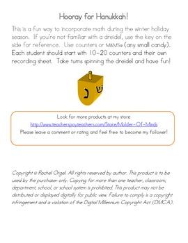 Hanukkah Dreidel Math