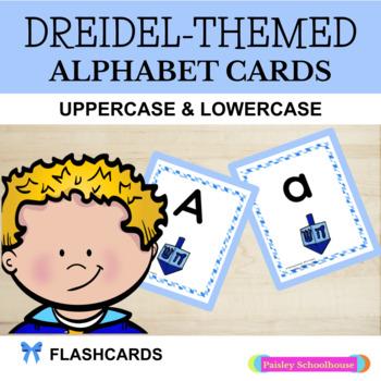 Hanukkah: Dreidel-Themed Alphabet Cards