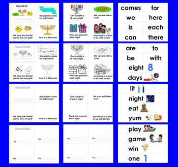 Hanukkah Activities: Differentiated Readers - 3 Levels + Illustrated Word Wall