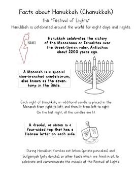 Hanukkah Fact Sheet