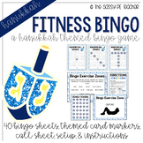 Hanukkah Fitness Bingo