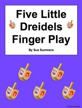 Hanukkah Five Little Dreidels Finger Play