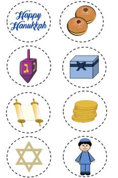 Hanukkah Menorah Following Directions (Prepositions, Cardinal, Temporal)