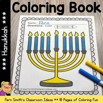 Coloring Pages for Hanukkah