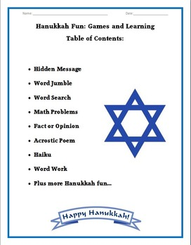 Hanukkah Fun and Learning