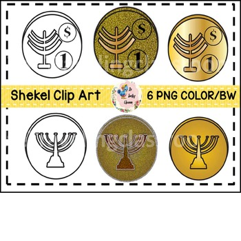 Hanukkah Gelt Clip Art (Commercial Use)