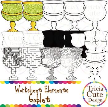Hanukkah Goblet Kwanzaa KiKombe Cha Umoja Unity Cup Worksheet Elements Clip Art